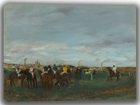 Degas, Edgar: The Races. Fine Art Canvas. Sizes: A4/A3/A2/A1 (003546)